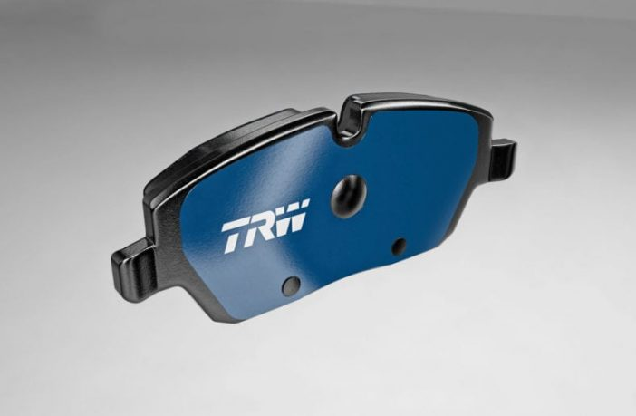 TRW Electric Blue brake pad designed for EVs
