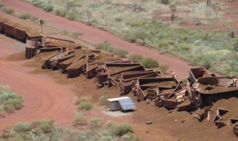 iron ore train crash