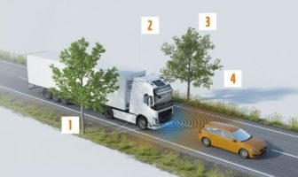 Volvo collision warning