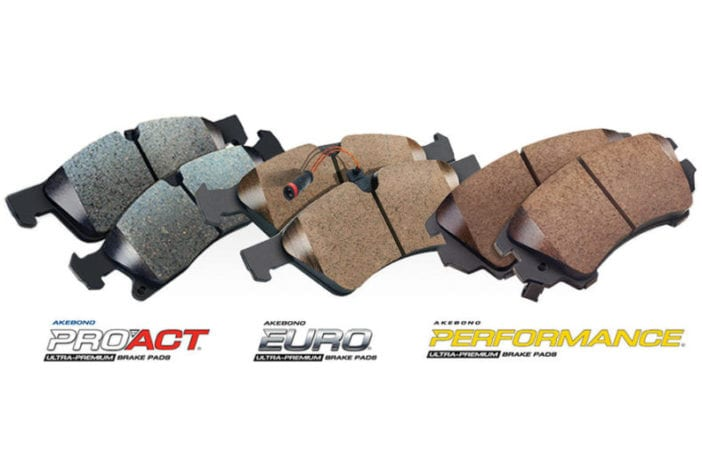 Akebono disc brake pad kits