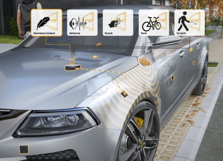 Continental Sensitive Sensing with CoSSy differentiating, for example between airborne sound, knocks, dents, and scratches for multi-purpose applications.