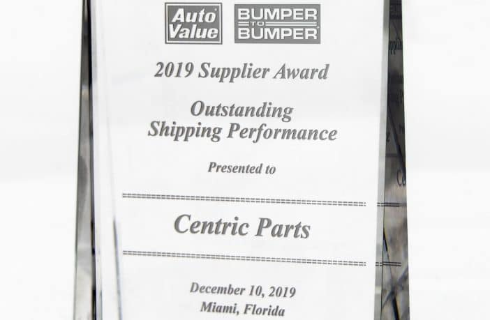 Centric Parts Awarded for Outstanding Service Levels by the Automotive Aftermarket
