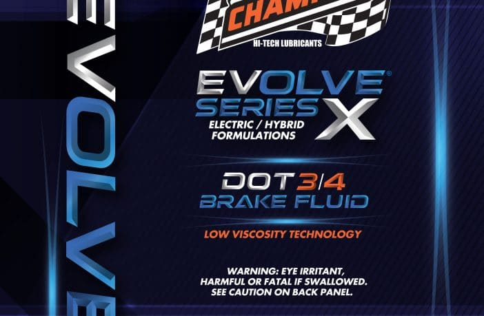 Champion Brands announces EVOLVE SERIES X Brake Fluid for electric and hybrid vehicles