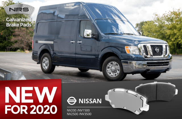 NRS Brakes galvanized brake pads for 2020 Nissan NV is first to market