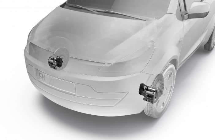 ZF's industry-first front electric park brake (EPB) offers a wide range of comfort and safety functions that can now also be implemented in small and very small cars