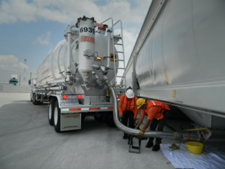 While some favored a red pulsating brake light on tanker trucks, the Transportation Safety Equipment Institute supported amber