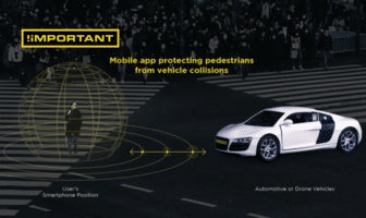 The !important app for phones alerts nearby connected vehicles to pedestrian activity.