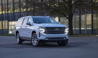 Car and Driver lauded GM for great strides in braking capability for its large SUVs like this 2021 Chevrolet Suburban