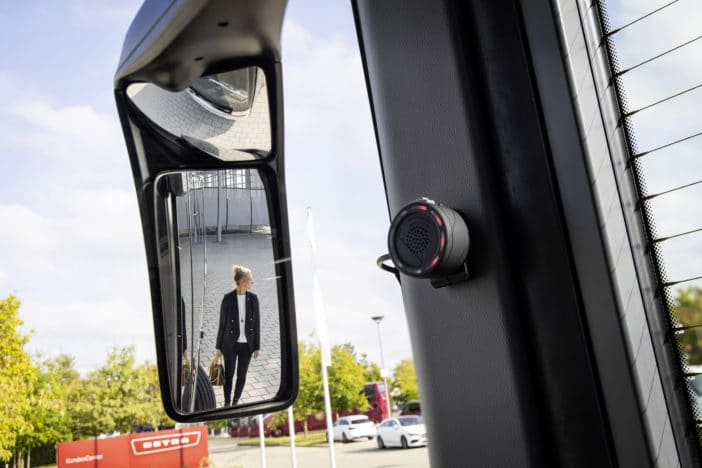 Sideguard Assist has been fitted to more than 250 Daimler buses in Germany