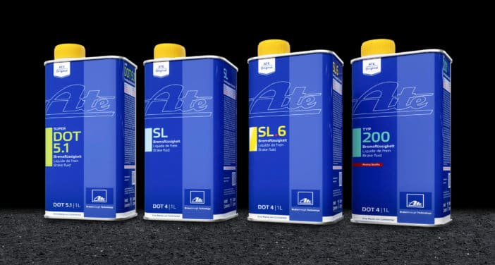 Conitinental has redesigned the packaging for its line of ATE brake fluids