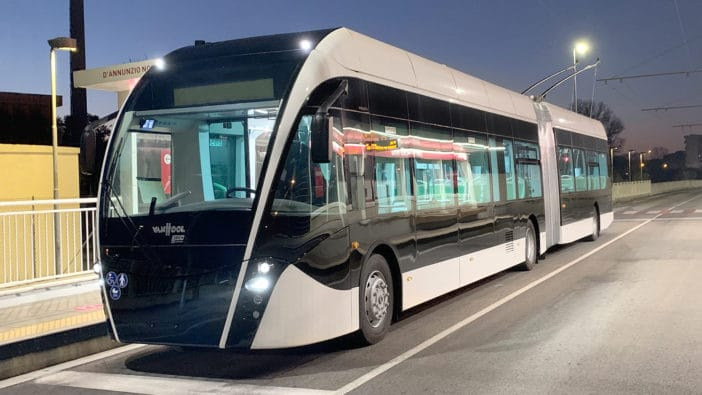 IMC® technology from Knorr-Bremse subsidiary Kiepe Electric, like this IMC bus in Rimini, is well established in the Italian local transportation sector