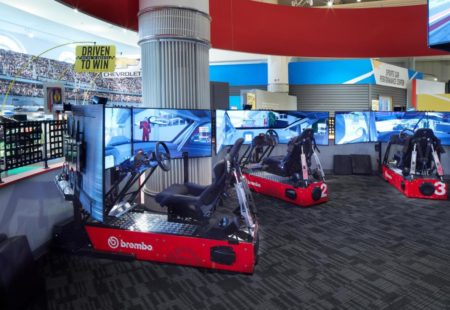 Brembo driving simulators are part of the new Driven to Win: Racing in America exhibit at the Henry Ford Museum of American Innovation