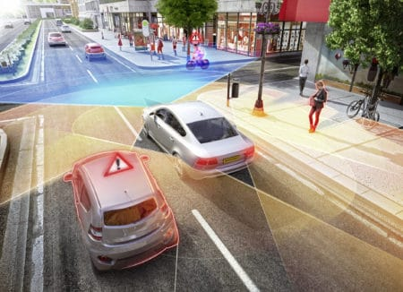 New radar sensors allow Continental's new surround radars to detect objects such as crossing vehicles, motorcycles and cyclists early and precisely.